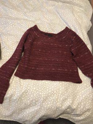 Rainbow Maglione di lana bianco-rosso mora