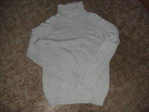 Maglione lavorato a maglia grigio Cotone