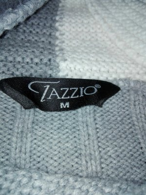 warmer Pullover in grau weiss