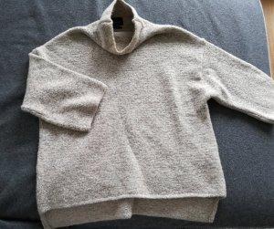 warmer Pullover mit Steh/Rollkragen in beige von Zara Knit in Gr.S