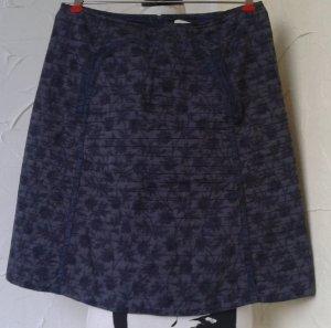 Asymmetry Skirt blue-grey