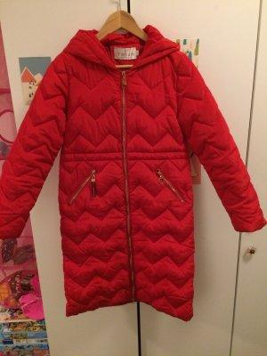 Manteau à capuche doré-rouge