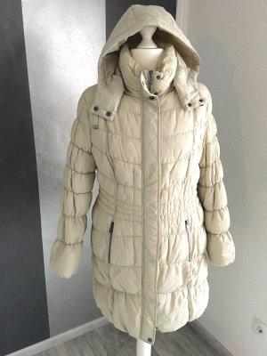 Warmer Steppmantel Gr. 48 - hellbeige/ creme