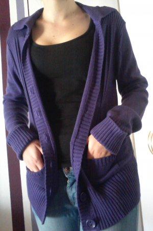 Warmer Strick-Cardigan, lila