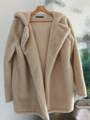 Brandy & Melville Abrigo de lana blanco puro-crema