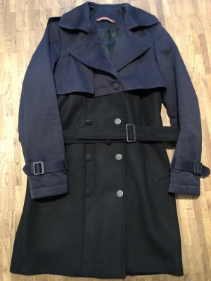 Warmer Trenchcoat in Navy-blau