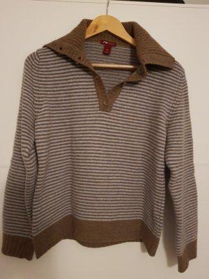 H&M Gebreide trui lichtbruin-lichtblauw Wol