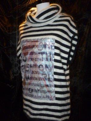 Warmer Wollpullover kurzärmlig Pariser Look