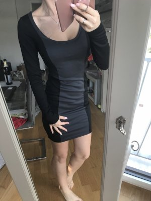 Warmes Kleid in Größe XS , schwarz / grau