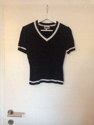 T-shirts en mailles tricotées noir-blanc