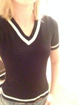 Warmes Shirt in schwarz/weiß