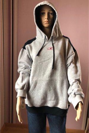 Crane Camicia con cappuccio grigio chiaro-nero