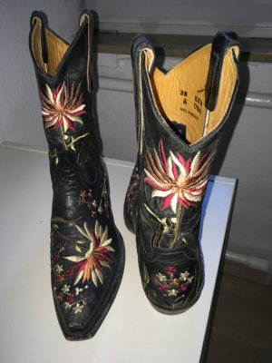 Western Booties multicolored leather