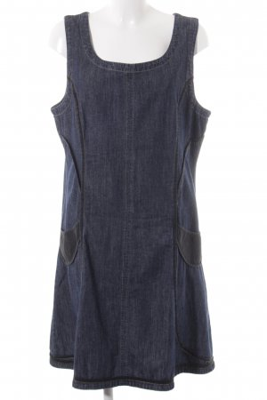 Waschbär Jeansjurk donkerblauw-zwart casual uitstraling