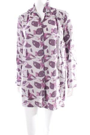 Waschbär Langarm-Bluse abstraktes Muster Casual-Look