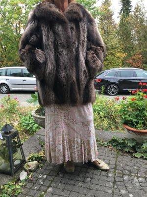 Waschbär Pelz Kurzmantel, Damen, Größe 40/42