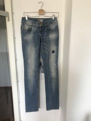 Zara Trafaluc Tube Jeans blue cotton