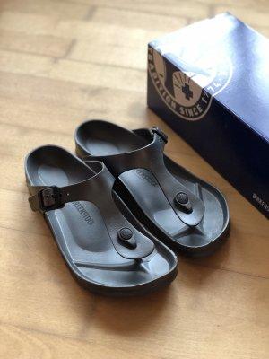 Birkenstock Sandalo toe-post argento-antracite
