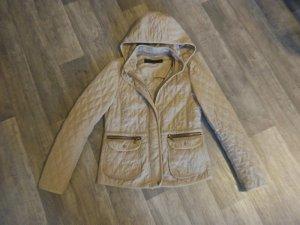 Zara Quilted Jacket multicolored mixture fibre