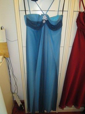 wasserblaues, langes Kleid