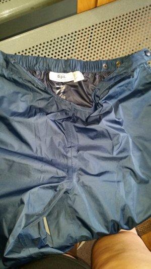 pantalón de cintura baja azul tejido mezclado
