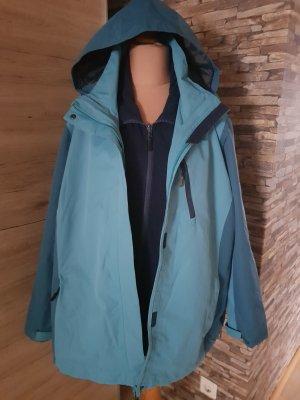 Regenjas donkerblauw-turkoois