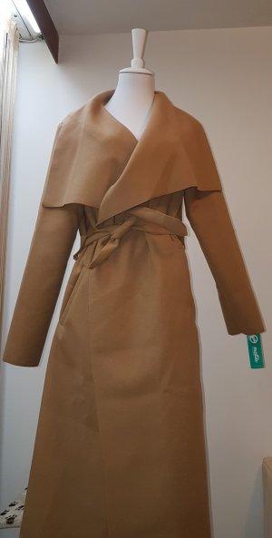 Manteau d'hiver brun sable lycra
