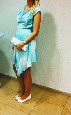 Wasserfall Kleid mint