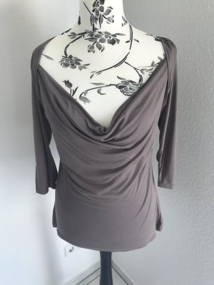 H&M Cowl-Neck Shirt grey brown