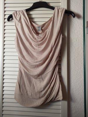 H&M Cowl-Neck Shirt beige