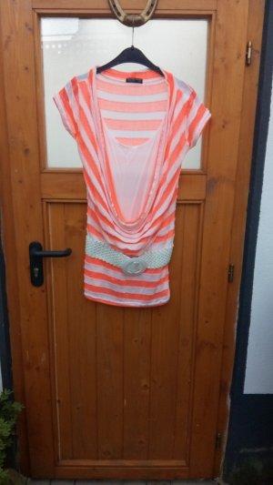 Camisa con cuello caído multicolor fibra textil