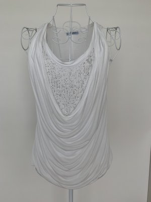 Strenesse Blue Cowl-Neck Top white