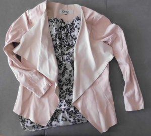 Only Blazer de tela de sudadera rosa claro-rosa