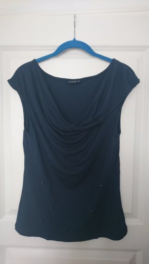 Bodyflirt Cowl-Neck Shirt dark blue