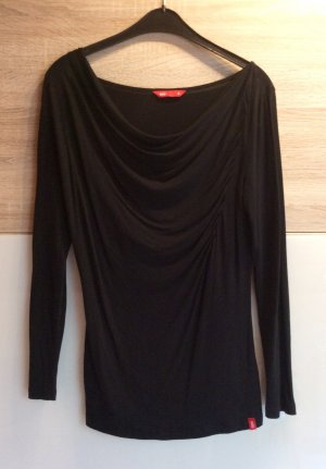 Edc Esprit Cowl-Neck Shirt black viscose