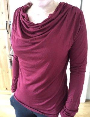 Orsay Maglia con scollo a cappuccio rosso scuro-rosso mattone
