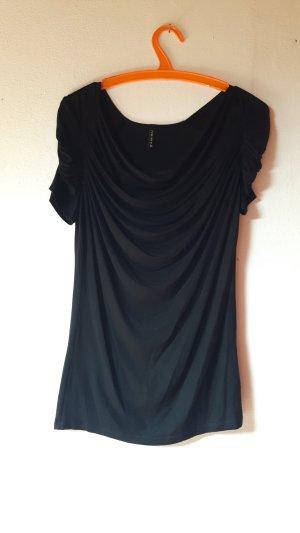 Amisu Cowl-Neck Shirt black