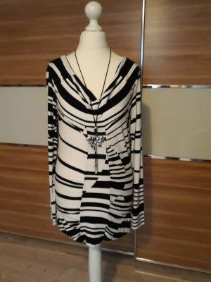 Alba Moda Haut long blanc-noir