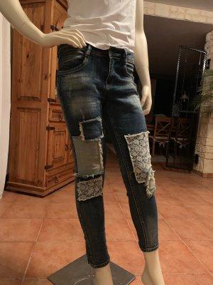 Pantalon cinq poches bleu