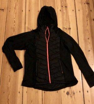 H&M Sport Chaqueta para exteriores negro-rojo neón Poliéster