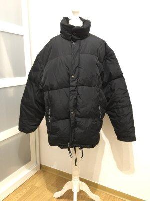 Wattierte Vintage Jacke in schwarz