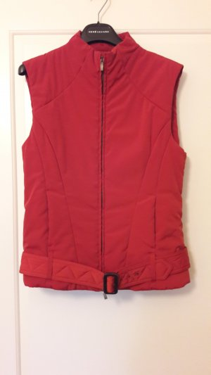 René Lezard Quilted Gilet brick red mixture fibre