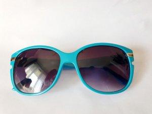 Oval Sunglasses neon blue-light blue