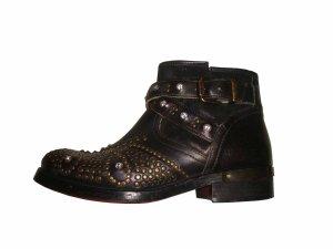 WE ARE Ancle Boots Stiefeletten Leder Echtleder Nieten Swarovski Gr. 37 wie neu