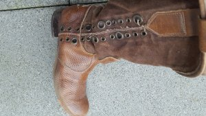 We are Boots light brown-brown leather