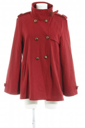WE Pea Jacket brick red casual look