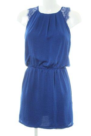 WE Fashion Blusenkleid blau Romantik-Look