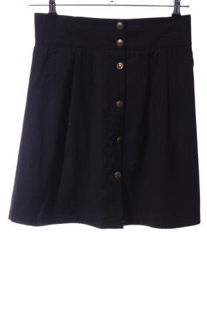 WE Fashion Jupe à plis noir style décontracté