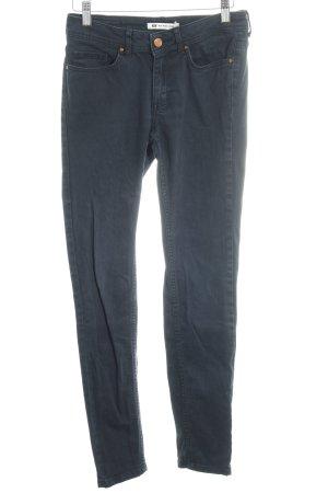 WE Fashion Skinny Jeans dunkelblau Jeans-Optik