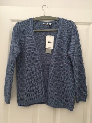 WE Fashion Strickjacke/offener Cardigan blau Gr. S 36 38 neu